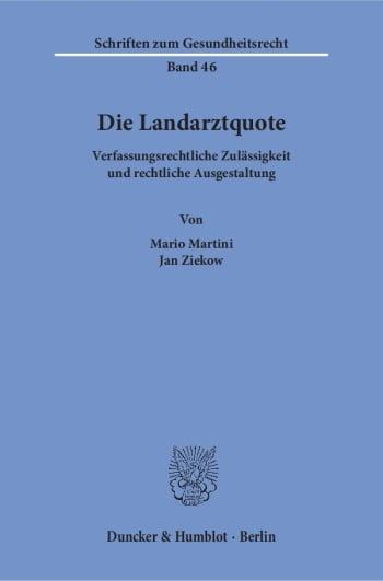 Cover: Die Landarztquote