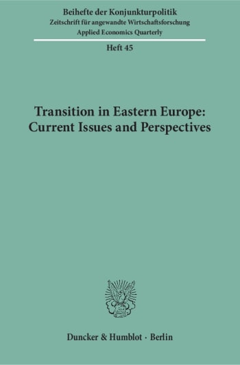 Cover: Transition in Eastern Europe: Current Issues and Perspectives