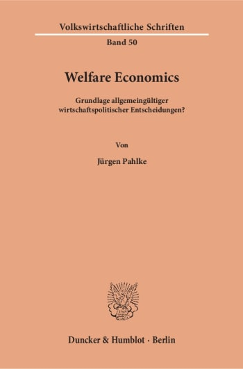 Cover: Welfare Economics
