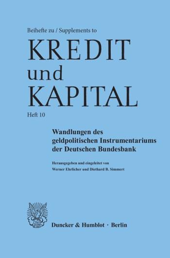 Cover: Wandlungen des geldpolitischen Instrumentariums der Deutschen Bundesbank