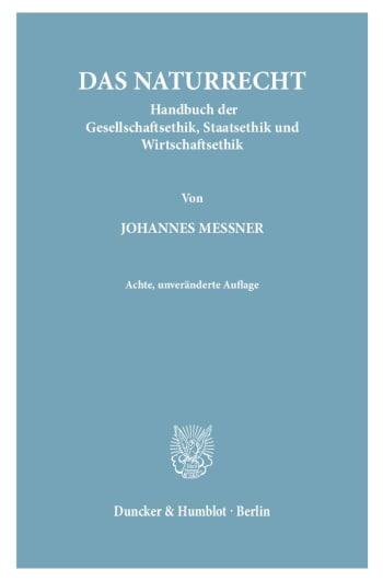 Cover: Das Naturrecht