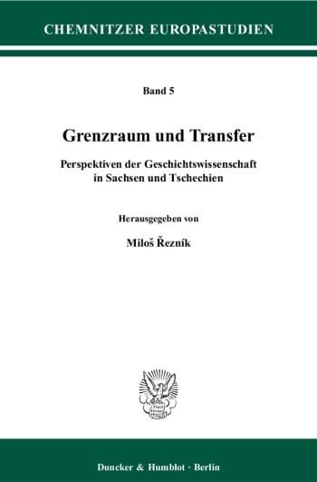 Cover: Grenzraum und Transfer