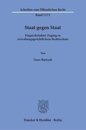 Cover: Staat gegen Staat