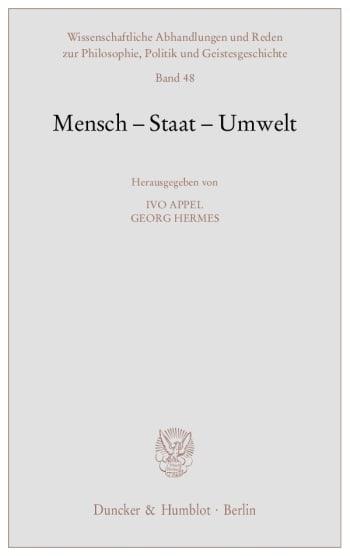 Cover: Mensch - Staat - Umwelt