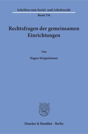 Cover: Rechtsfragen der gemeinsamen Einrichtungen
