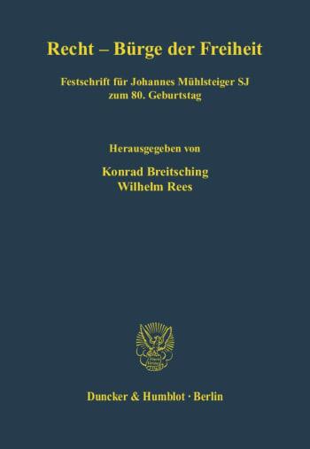 Cover: Recht - Bürge der Freiheit