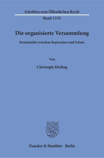 Cover: Die organisierte Versammlung