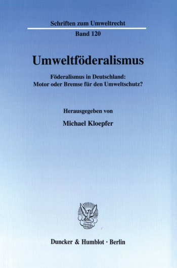 Cover: Umweltföderalismus