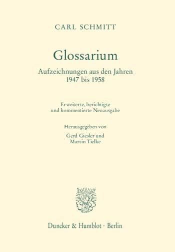 Cover: Glossarium