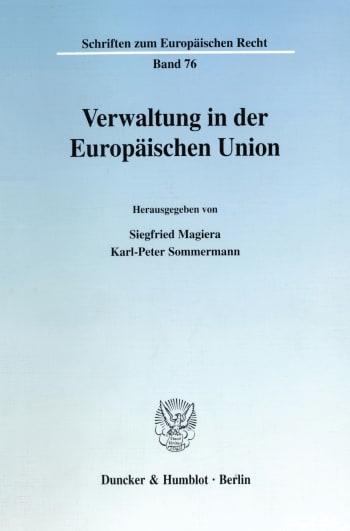 Cover: Verwaltung in der Europäischen Union