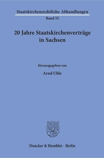 Cover: 20 Jahre Staatskirchenverträge in Sachsen