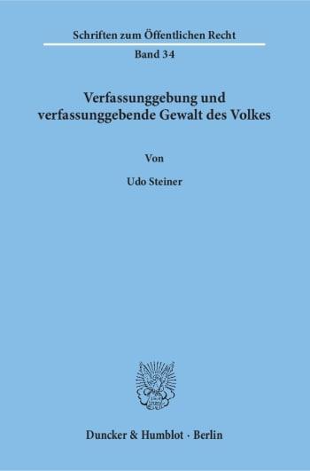 Cover: Verfassunggebung und verfassunggebende Gewalt des Volkes