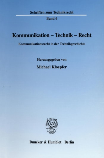 Cover: Kommunikation - Technik - Recht
