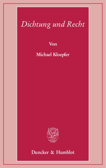 Cover: Dichtung und Recht