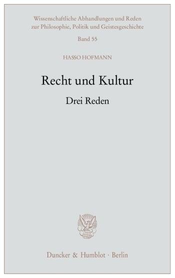 Cover: Recht und Kultur