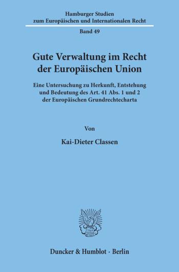 Cover: Gute Verwaltung im Recht der Europäischen Union