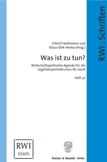 Cover: Was ist zu tun?