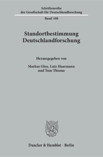 Cover: Standortbestimmung Deutschlandforschung