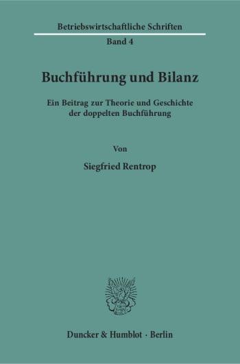 Cover: Buchführung und Bilanz