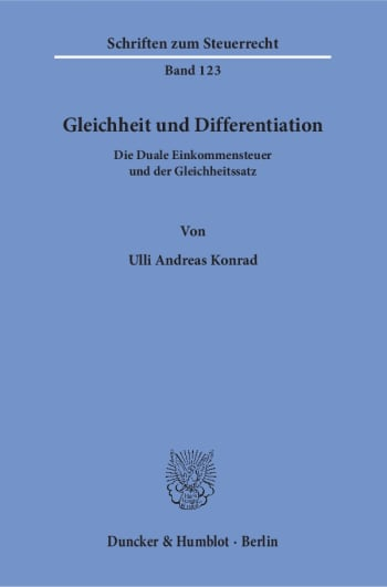 Cover: Gleichheit und Differentiation