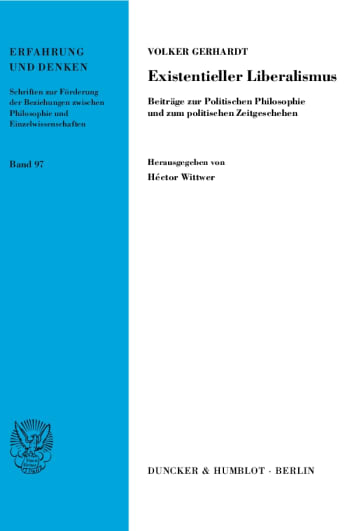 Cover: Existentieller Liberalismus