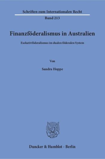 Cover: Finanzföderalismus in Australien