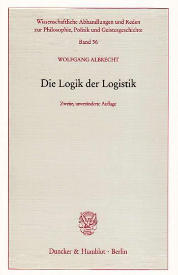 Cover: Die Logik der Logistik