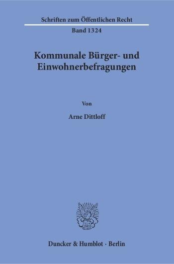 Cover: Kommunale Bürger- und Einwohnerbefragungen