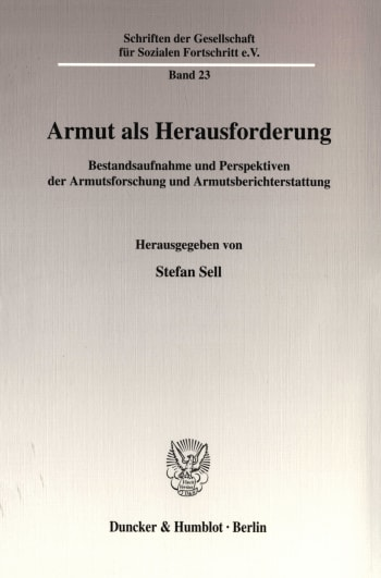 Cover: Armut als Herausforderung