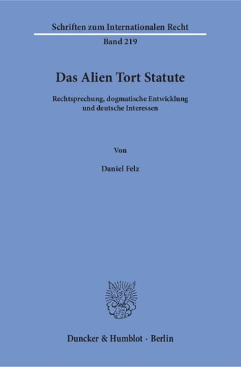 Cover: Das Alien Tort Statute