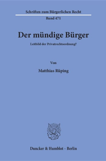 Cover: Der mündige Bürger