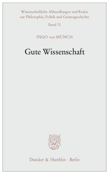Cover: Gute Wissenschaft