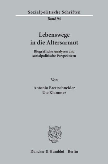 Cover: Lebenswege in die Altersarmut