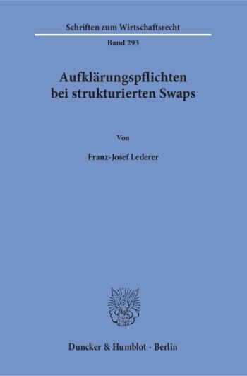 Cover: Aufklärungspflichten bei strukturierten Swaps