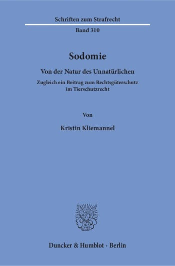 Cover: Sodomie