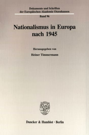 Cover: Nationalismus in Europa nach 1945