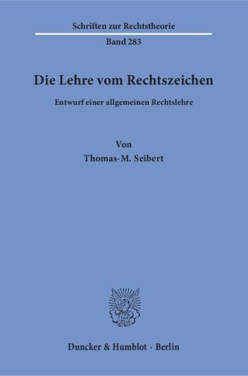 Cover: Die Lehre vom Rechtszeichen