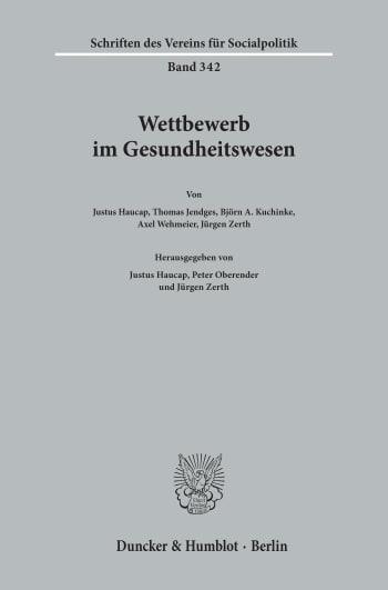 Cover: Schriften des Vereins für Socialpolitik (SVS)