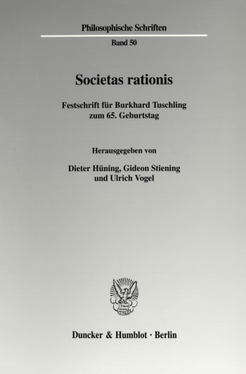 Cover: Societas rationis