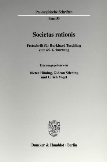 Cover: Societas rationis