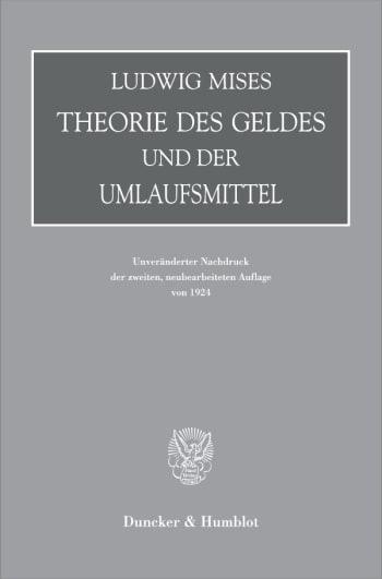 Cover: Theorie des Geldes und der Umlaufsmittel