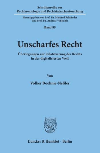 Cover: Unscharfes Recht