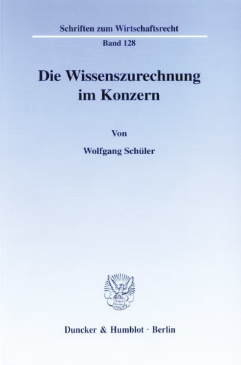 Cover: Die Wissenszurechnung im Konzern