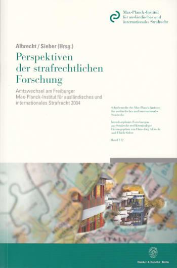 Cover: Perspektiven der strafrechtlichen Forschung