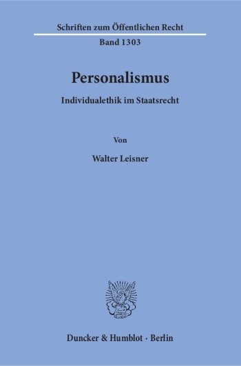 Cover: Personalismus