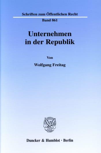 Cover: Unternehmen in der Republik