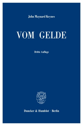 Cover: Vom Gelde (A Treatise on Money)