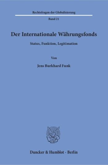 Cover: Rechtsfragen der Globalisierung (RFG)