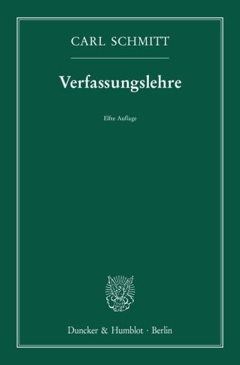 Cover: Verfassungslehre