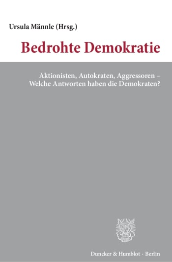 Cover: Bedrohte Demokratie